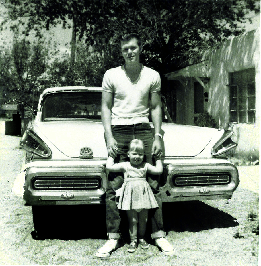 Glen and Debby Campbell in Albuquerque with a 1957 Mercury Montclair.jpg
