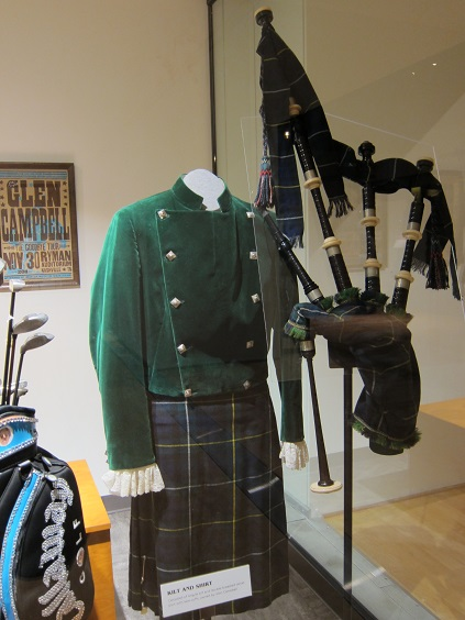 Glen Campbell's Kilt, Shirt and Bagpipes_CMHoFandM_c. DZ 2014_GCF.jpg